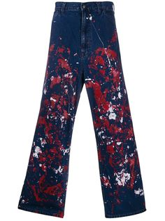 Needles джинсы с эффектом разбрызганной краски