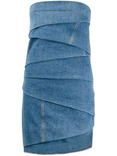 Philosophy Di Lorenzo Serafini многослойное джинсовое платье мини