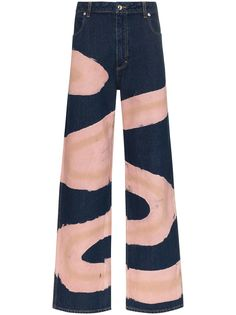 Eckhaus Latta джинсы широкого кроя с принтом