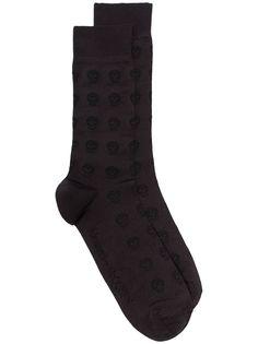 Alexander McQueen носки с принтом Skull