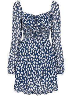 Reformation присборенное платье мини Rue с леопардовым принтом