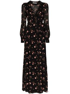 Reformation платье Shanti с запахом и цветочным принтом