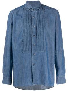Tagliatore джинсовая рубашка Soho с манишкой