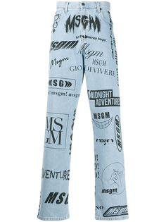 MSGM джинсы прямого кроя с логотипом