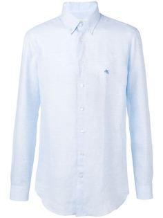 Etro рубашка с вышивкой логотипа