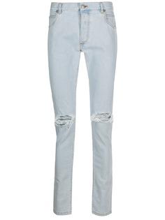 Balmain джинсы средней посадки с эффектом потертости