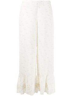 See by Chloé брюки широкого кроя с вышивкой