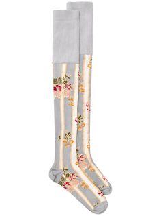 Simone Rocha гольфы с цветочным принтом