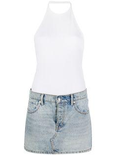 Alexander Wang платье с джинсовой юбкой