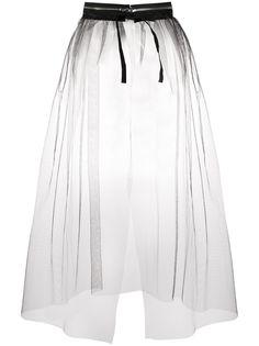Mm6 Maison Margiela полупрозрачная юбка с молнией