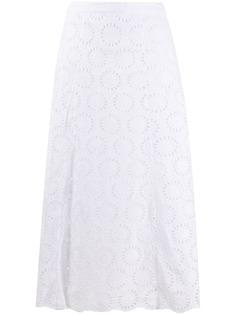 Michael Michael Kors юбка миди с английской вышивкой