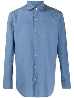 Finamore 1925 Napoli рубашка узкого кроя с длинными рукавами
