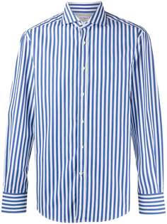 Brunello Cucinelli полосатая рубашка с длинными рукавами