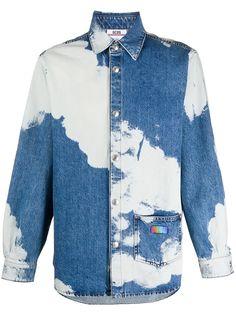 Gcds джинсовая рубашка с длинными рукавами