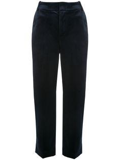 Vince бархатные брюки прямого кроя