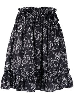 Kenzo юбка мини с присборенной талией