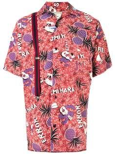 Maison Mihara Yasuhiro рубашка с короткими рукавами и принтом