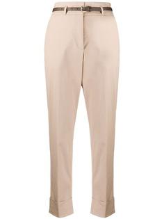 Peserico укороченные брюки чинос с завышенной талией