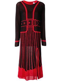 Maison Mihara Yasuhiro платье вязки интарсия с длинными рукавами