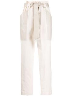 Twin-Set зауженные брюки с завышенной талией