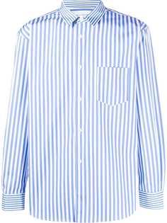 Comme Des Garçons полосатая рубашка с карманом