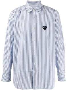 Comme Des Garçons Play полосатая рубашка с жатым эффектом