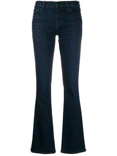 J Brand расклешенные джинсы с эффектом потертости