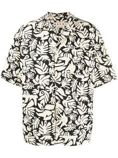 Marni рубашка с короткими рукавами и принтом
