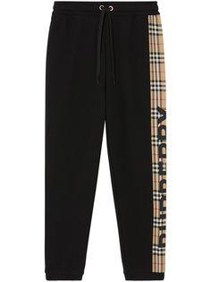 Burberry спортивные брюки со вставкой в клетку Vintage Check