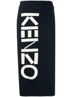 Kenzo трикотажная юбка с логотипом