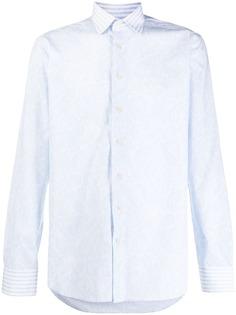 Etro рубашка кроя слим с узором пейсли