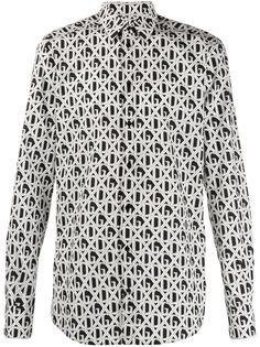 Dolce & Gabbana рубашка с узором и логотипом