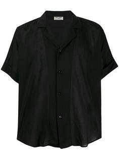 Saint Laurent прозрачная рубашка с короткими рукавами