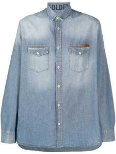 Golden Goose джинсовая рубашка с эффектом потертости