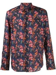 Daniele Alessandrini рубашка с цветочным принтом и длинными рукавами
