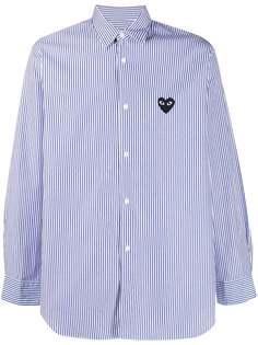 Comme Des Garçons Play полосатая рубашка с вышитым логотипом