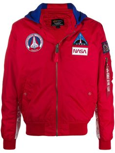 Alpha Industries куртка MA-1 TT NASA с капюшоном