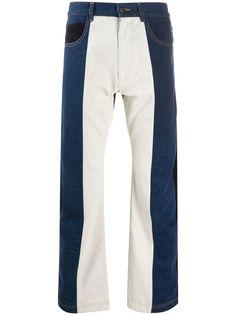 GR-Uniforma широкие джинсы в стиле колор-блок