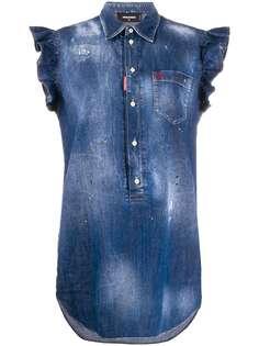 Dsquared2 джинсовое платье без рукавов с оборками