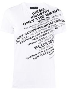 Diesel футболка с принтом