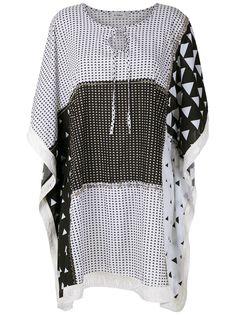 Amir Slama короткое платье с бахромой