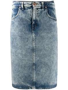 Maison Margiela джинсовая юбка миди прямого кроя
