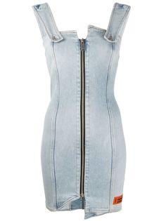 Heron Preston джинсовое платье на молнии