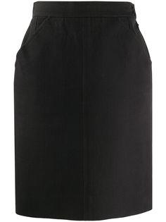 Yves Saint Laurent Pre-Owned юбка с завышенной талией 1980-х годов