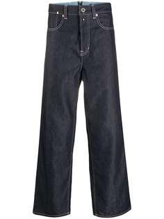 Junya Watanabe MAN укороченные джинсы широкого кроя