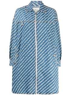 Diesel джинсовое платье-рубашка с принтом