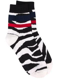 Sacai носки с зебровым принтом
