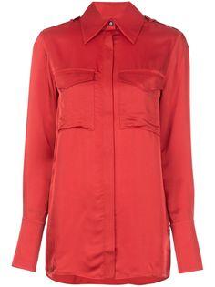 Victoria Victoria Beckham рубашка с нагрудным карманом и длинными рукавами