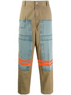 Diesel брюки со вставками
