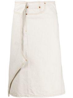 Maison Margiela джинсовая юбка с запахом
